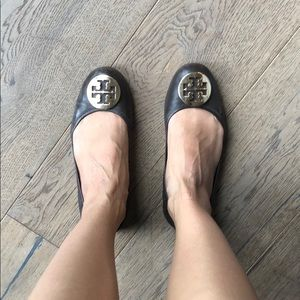 Tory Burch brown leather flats 8.5